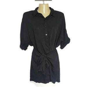 Lulu's Tunic Dress Top Black Button Up Size XS